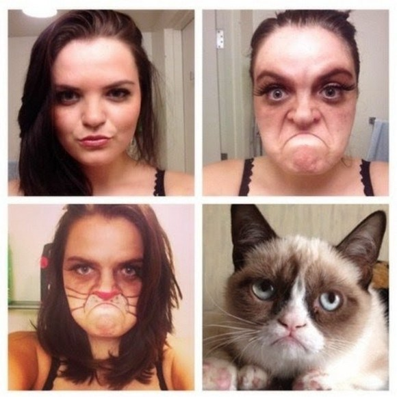 Transformasi Makeup Konyol GRUMPY CAT