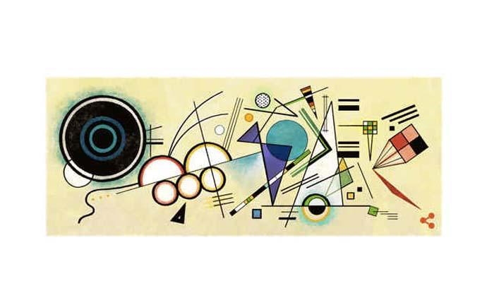 Google Doodle Peringati Ulang Tahun Wassily Kandinsky