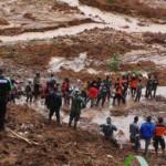 Presiden Joko Widodo Meninjau Lokasi Bencana Tanah Longsor Banjarnegara