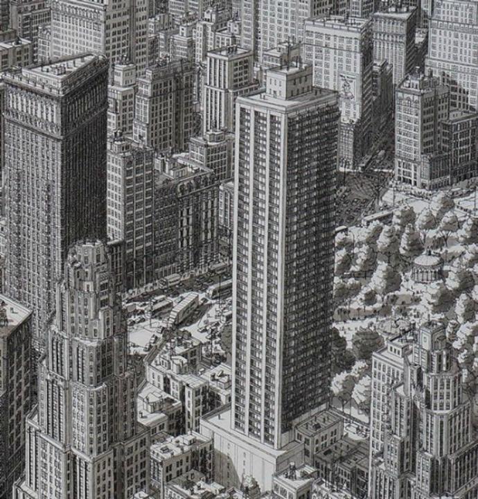 Gambar Kota Hanya Mengandalkan Ingatan