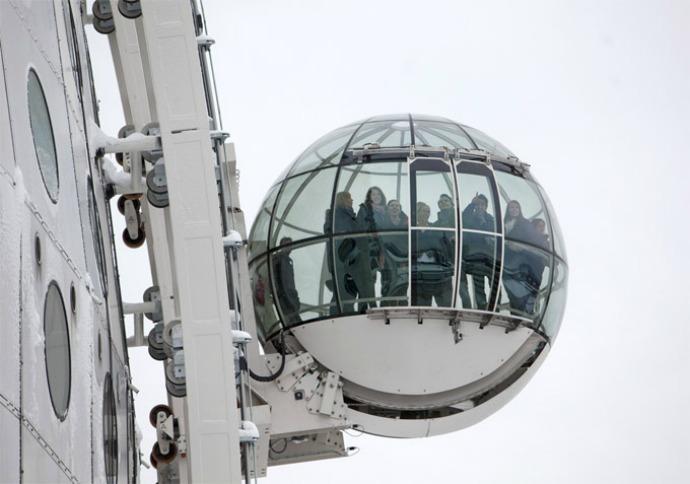 Stockholm Globe Arena elevator