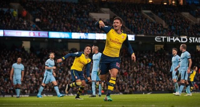 Manchester City vs Arsenal Berakhir Dengan Skor 0-2