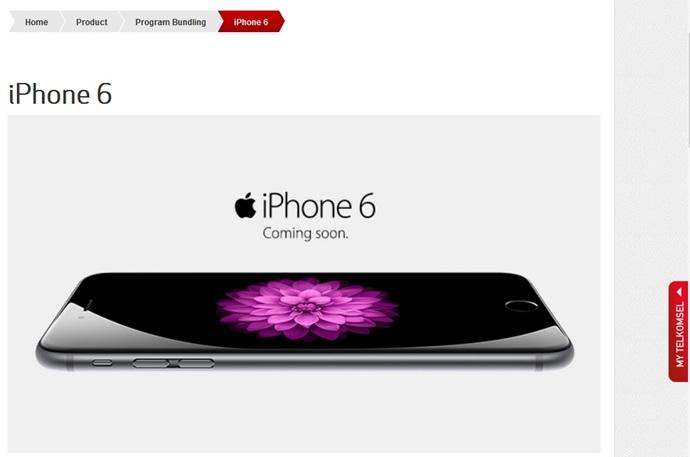 iPhone 6 di situs resmi Telkomsel