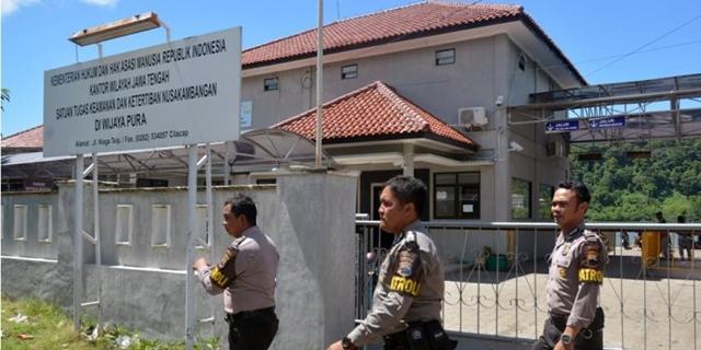 penjagaan lapas Nusakambangan diperketat menjelang pelaksanaan eksekusi mati