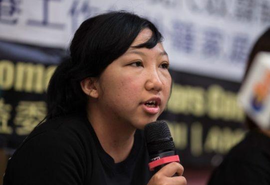 Erwiana dalam keterangan pers setelah vonis majikannya dijatuhkan (c)bbc.co.uk