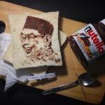 Lukisan Gusdur dengan Nutella