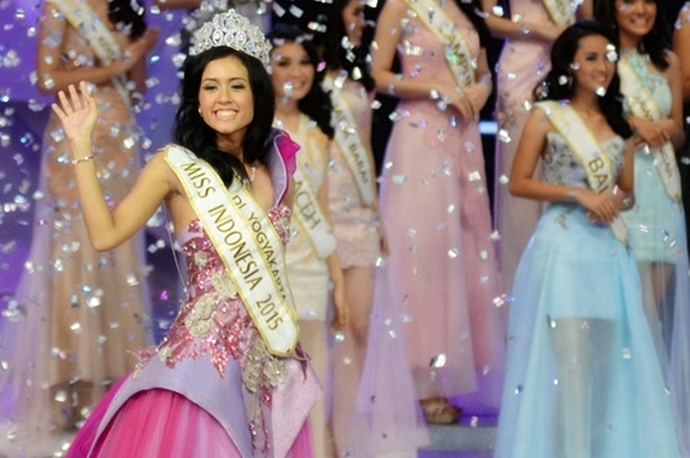 Maria Harfanti perwakilan DIY terpilih sebagai Miss Indonesia 2015 (c)tempo