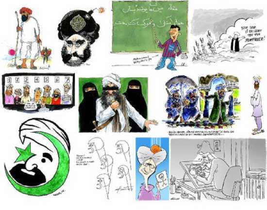 Karikatur Nabi Muhammad (via)Listverse