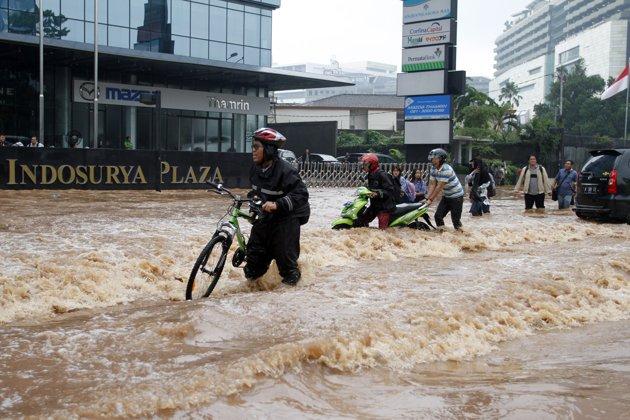Foto kelam banjir Jakarta