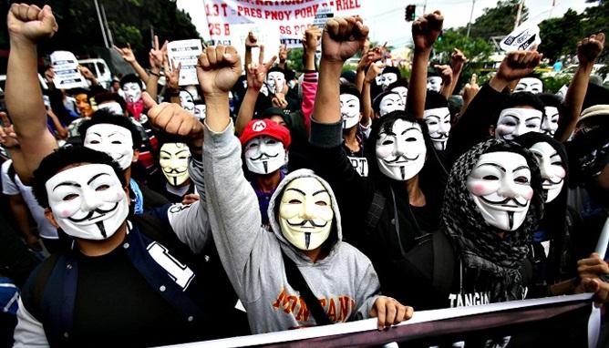 Anonymous perlawanan modern