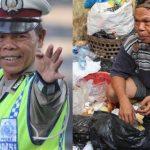Bripka Seladi menjadi pemulung selepas pekerjaan kepolisian [sumber gambar]