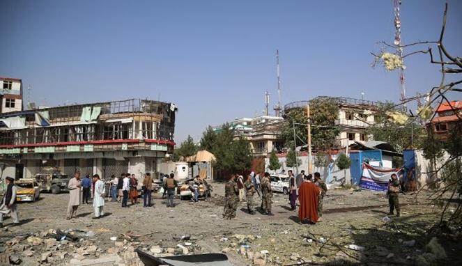 Keadaan Kabul, ibu kota Afghanistan, setelah serangan bom. [Sumber Gambar]