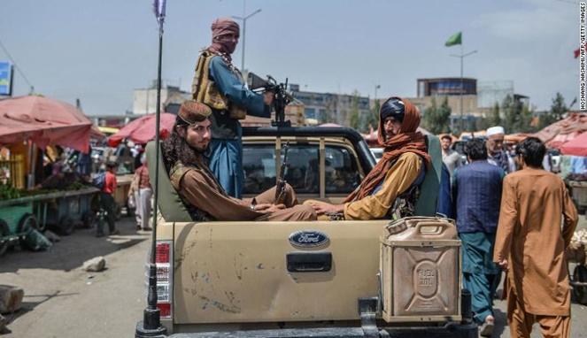 Milisi Taliban di Kabul, ibu kota Afghanistan. [Sumber Gambar]