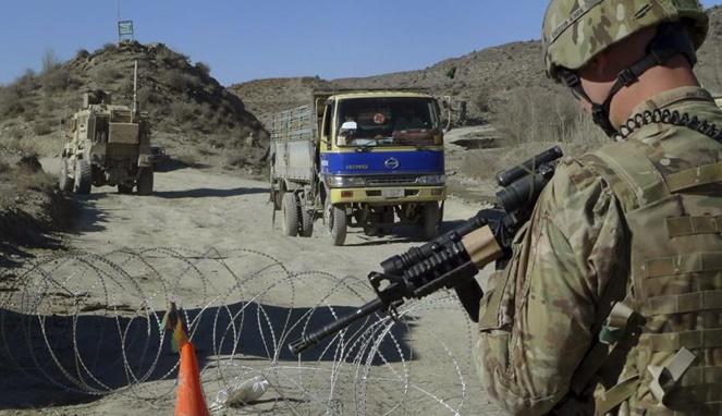 Pasukan militer Amerika Serikat di Afghanistan.[Sumber Gambar]