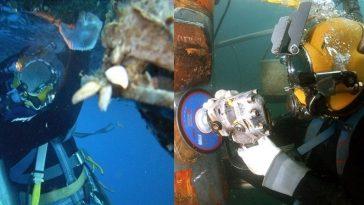 FI tukang las bawah laut